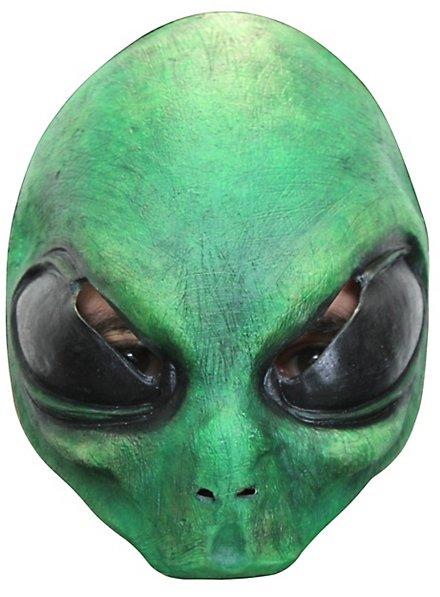 Grüner Alien Halbmaske für Kinder