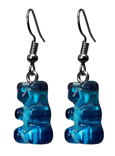 Gummibär Ohrringe blau
