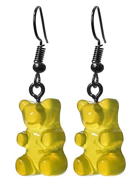 Gummibär Ohrringe gelb