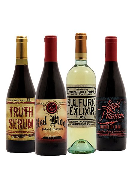 Halloween Bottle Labels Wine 1