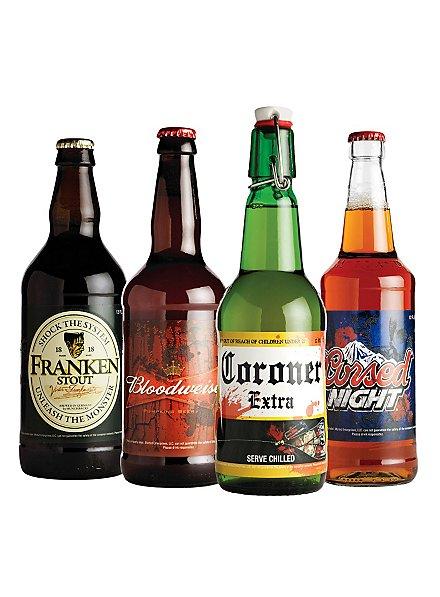 Halloween Flaschenetiketten Bier leuchtend