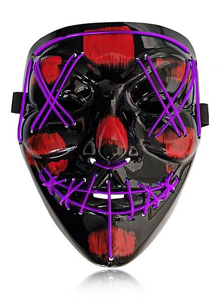 Halloween LED Maske lila