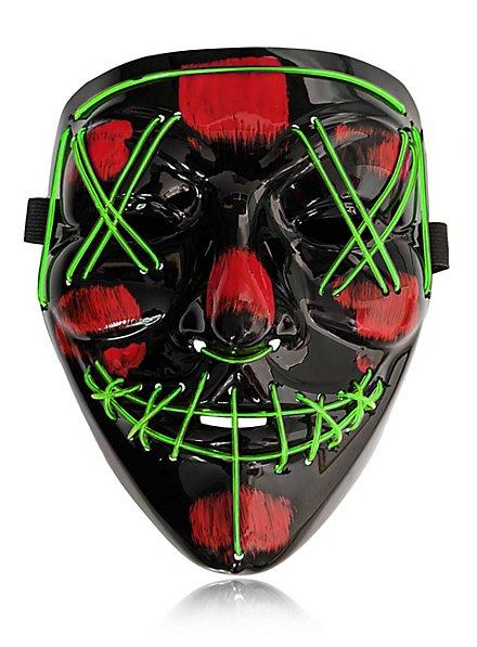 Halloween LED Maske neon-grün