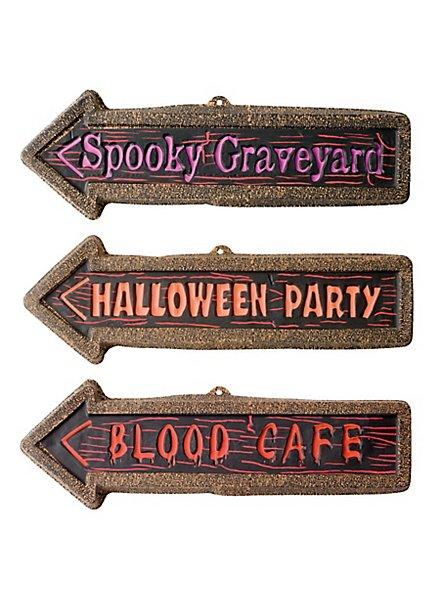 Halloween Party Wegweiser Set