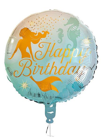 Happy Birthday Folienballon Meerjungfrau