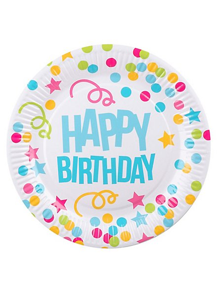 Happy Birthday Pappteller 6 Stück