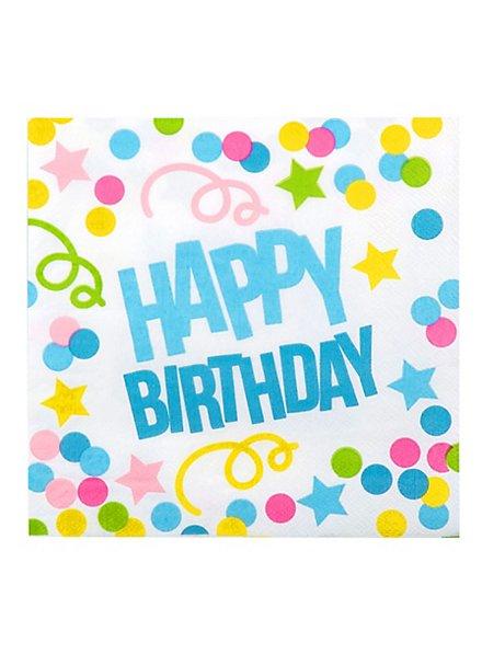 Happy Birthday Servietten 12 Stück