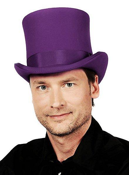 Haut-de-forme steampunk violet