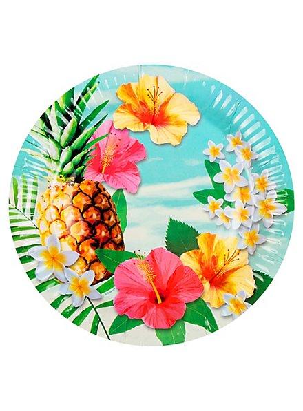 Hawaii Pappteller 6 Stück