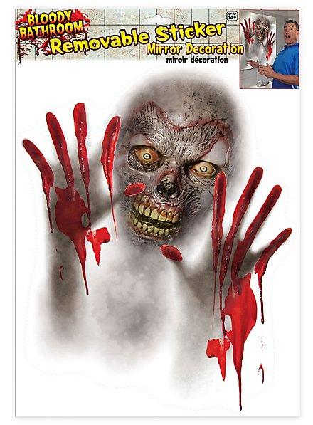 Heimsuchung Spiegel-Sticker Halloween Deko
