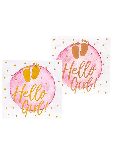 Hello Girl! Servietten 12 Stück