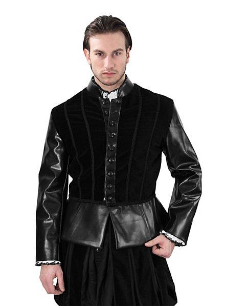 Henry VIII Velveteen Doublet black