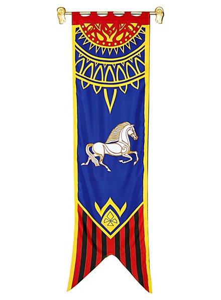 Herr der Ringe Rohan Banner blau