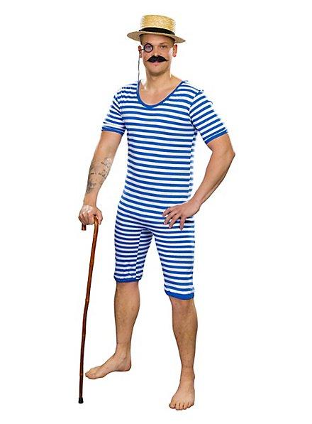 Herren Badeanzug 20er Jahre blau