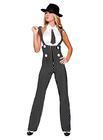 High Waist Gangster Trousers Costume