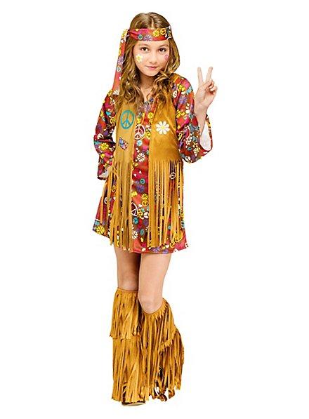 Hippie Mädchen Kinderkostüm
