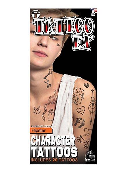 Hipster Klebe-Tattoos