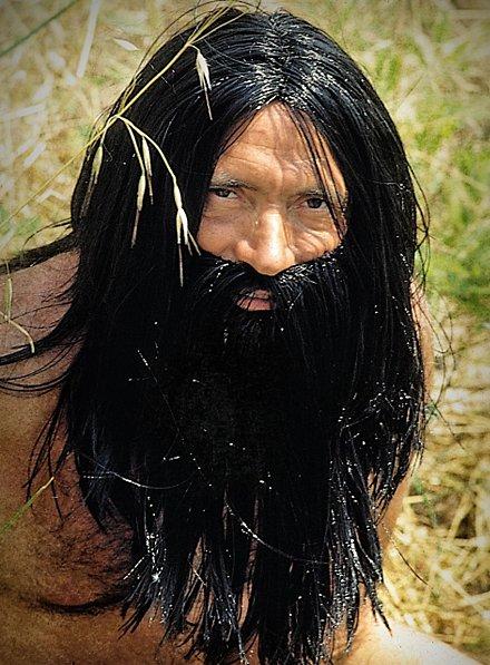 Homme préhistorique Barbe complète avec perruque