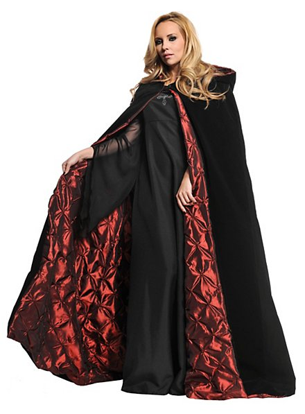 Hooded Cape with Red Lining