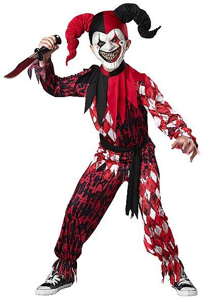 Horror Court Jester Child Costume