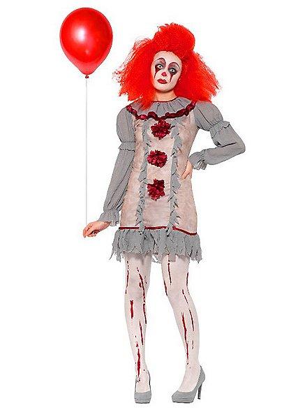 Horror movie clowness costume