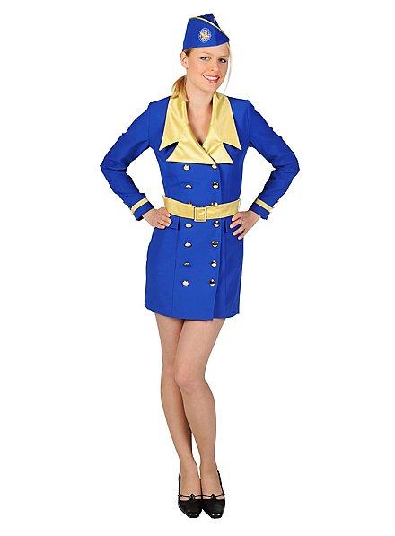 Hôtesse de l'air bleu Déguisement