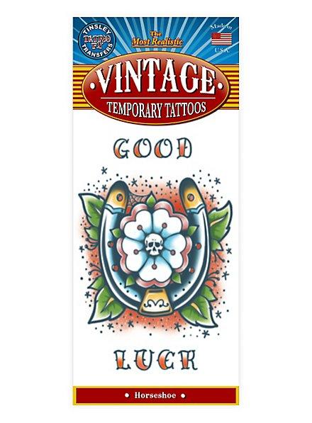 Hufeisen Vintage Klebe-Tattoo