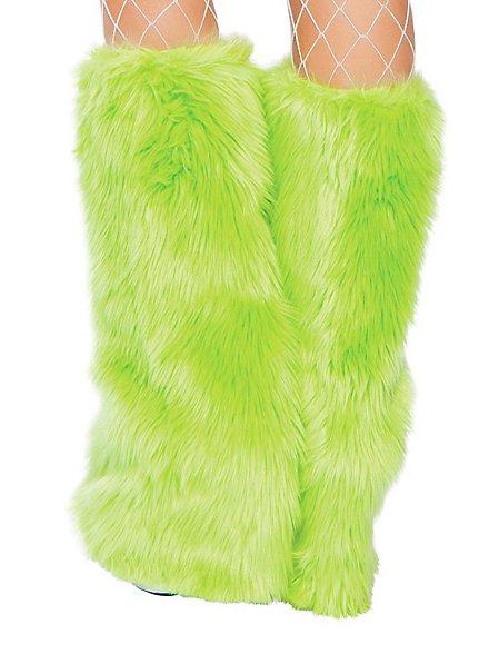 Jambières vert clair en fourrure
