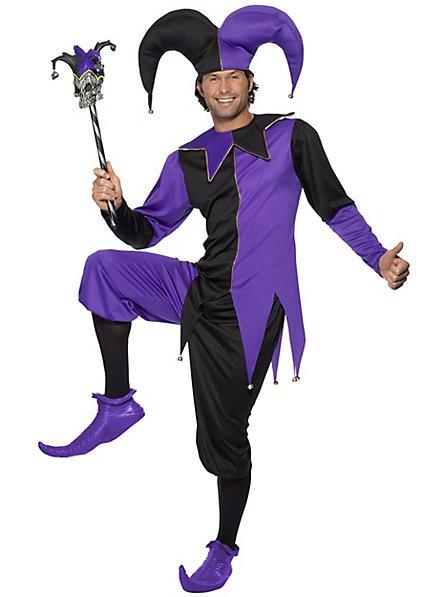 Jester costume black-purple