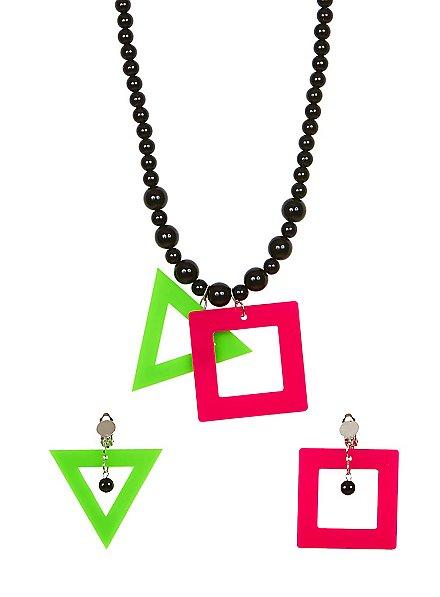 Jewellery set Neon 80s