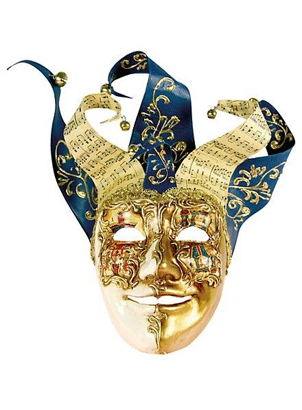 Jolly Carte Maschile oro bianco - Venezianische Maske