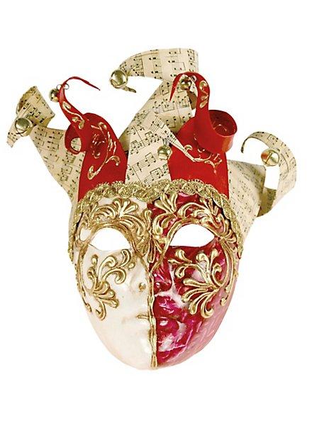 Jolly Colla rosso bianco - Venezianische Maske