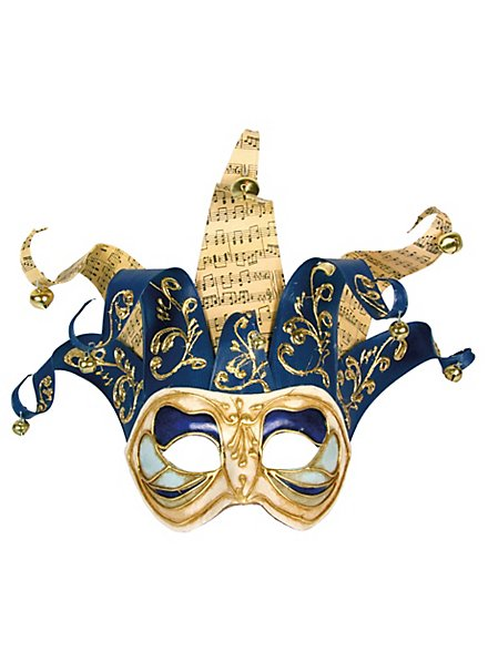 Jolly colombina Monica bianco blu - masque vénitien