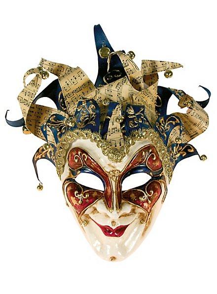 Jolly Grande blu glitter - Venezianische Maske