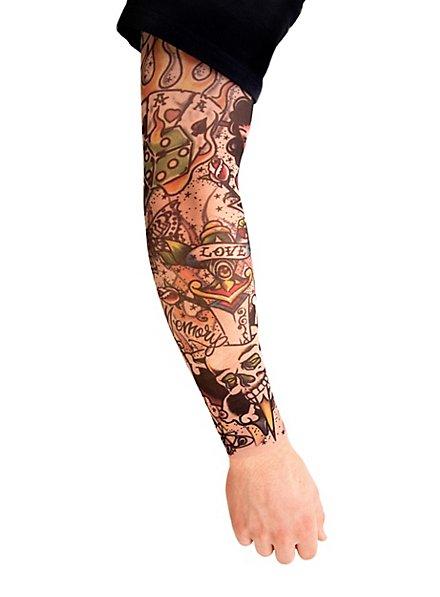 Joueur Manches de peau tatouée