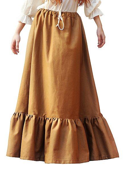 Jupe médiévale marron