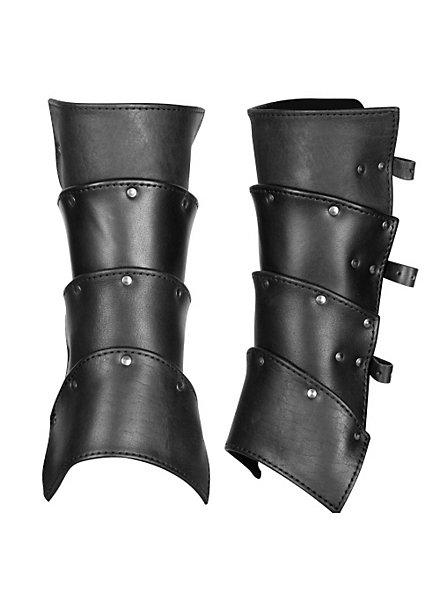 Kämpfer Beinschienen schwarz