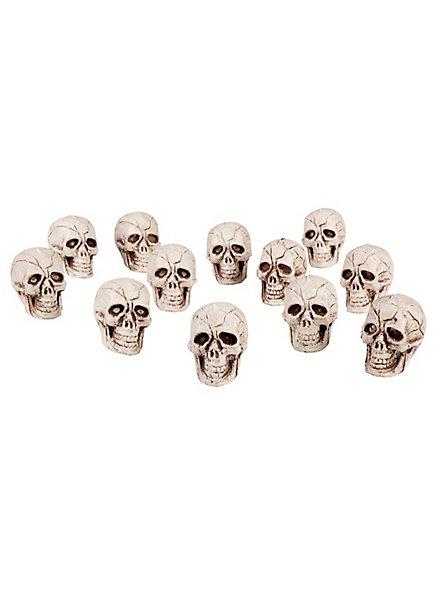Kleine Schädel Halloween Deko 12 Stück