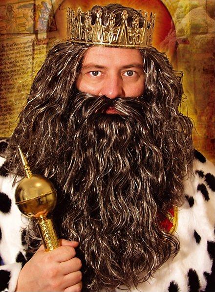 König Bart mit Perücke