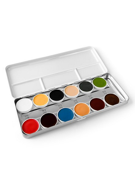 Kryolan Special Make-up Pallet for Latex, 12 colours