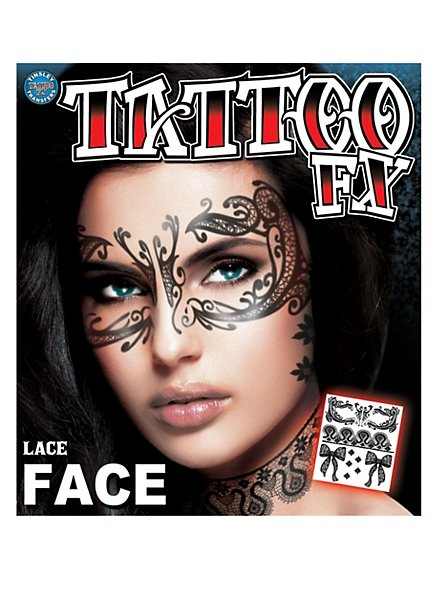 Lace Temporary Face Tattoo