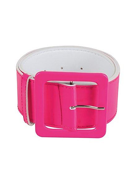 Lackgürtel neon-pink