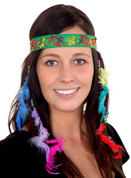 Lady Headband with Feathers