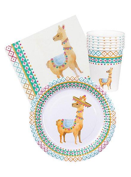 Lama Party Tischdeko Set