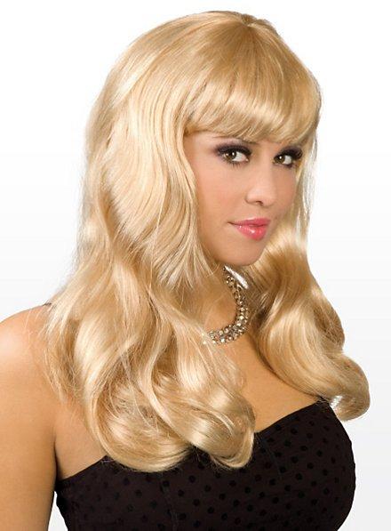 Lange Haare blond Perücke