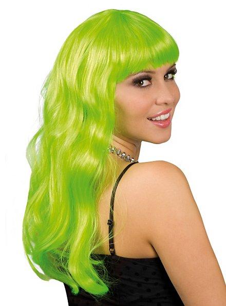 Lange Haare grün Perücke