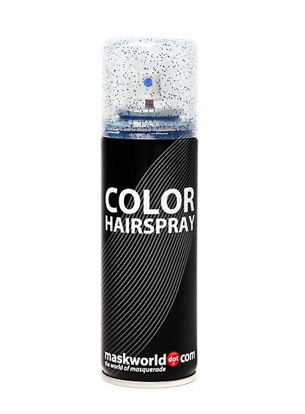 Laque scintillante pour cheveux bleu