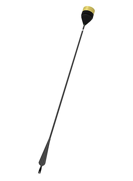 Larp-Pfeil Plattkopf - schwarzer Schaft
