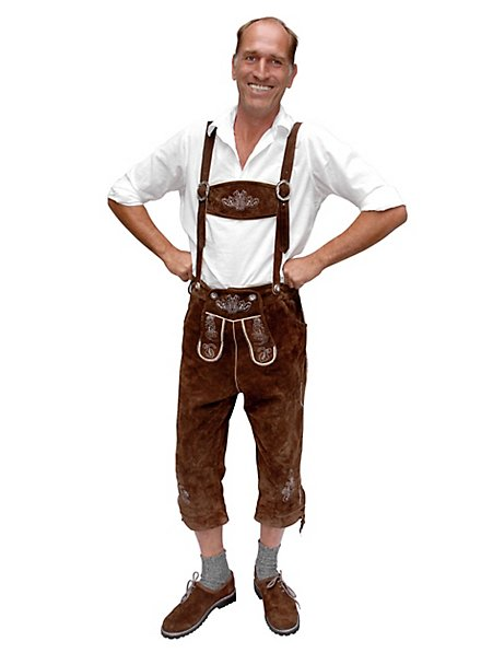 Leather Lederhosen knee-length