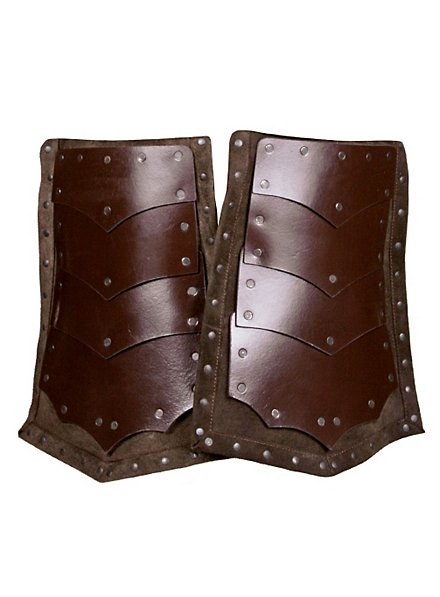 Leather Leg Guards Assassin brown